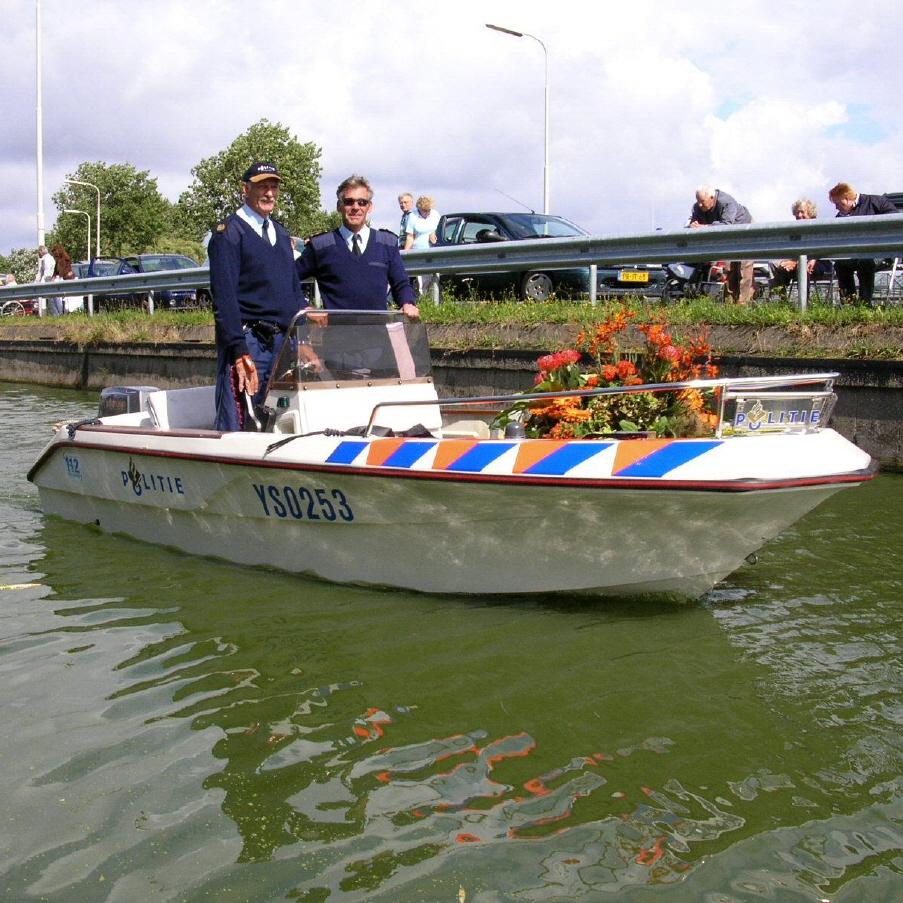 Politieboot van Jaco Vreugdenhil
