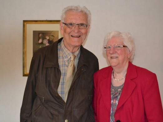 Jan en Rie Vreugdenhil uit Emmen zijn zestig jaar getrouwd. Foto: Paul Abraham